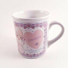 Precious Moments Grandma Coffee Mug 1994 Vintage Cup Heart Pink