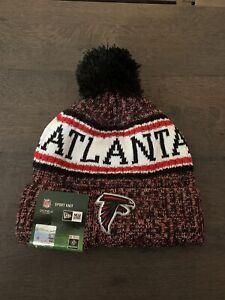 New Era NFL Atlanta Falcons Cuff Knit Hat Road Beanie Stocking Cap Pom NWT
