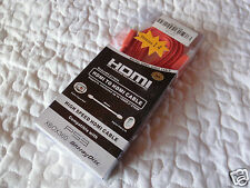 3m HDMI Flach Kabel Orange 1.4a Ethernet Full HD 3D TV PS3 PS4 Xbox ONE, NEU