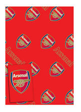 Arsenal Football 2 Sheets Gift Wrapping Paper & 2 Gift Tags Free 1st P&P