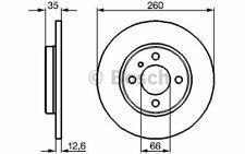 2x BOSCH Disques de Frein Avant Plein 260mm pour BMW Série 3 0 986 478 029
