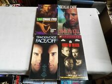 Lot Of 4 Nicolas Cage Vhs Movies - Snake Eyes - Face Off - Time To Kill