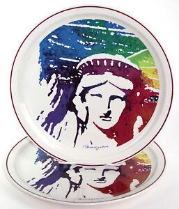 Lady Liberty Centennial Lidded Dish Villeroy /& Boch Bone China Vintage