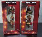New! Kirkland Signature Waterglobe Ornament: Penguin & Bear Lot of 2