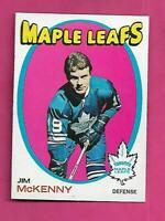 1971-72 TOPPS # 43 LEAFS JIM MCKENNY NRMT ROOKIE CARD (INV# C7061)