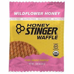 Honey Stinger Organic Waffle, Wildflower Honey, Sports Nutrition, 1.06 Ounce (16