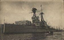 British Man O War Naval Ship Straits of Bosphorus Turkey c1915 RPPC