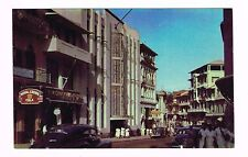 Lottery Building Central Ave Panama City Real Color Photo Postcard Unused '40s
