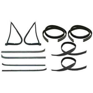 Front Sweep Belt & Glass Run Window Channel & Vent Seal Kit 78-79 Ford Bronco