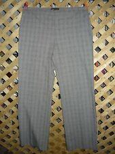Dana Buchman Black Plaid Stretch Polyester Blend Dress Pants Size 12 NWT!