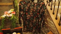 Free People Womens Top Shirt Blouse Black Size Extra Small