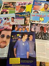 NSYNC, N Sync, Lot of TEN Full and Two Page Vintage Clippings
