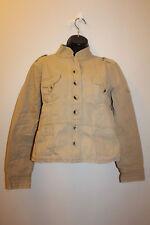 Jordache Women's Junior Carmel Button Front Cotton Military Jacket Sz: XL 15/17