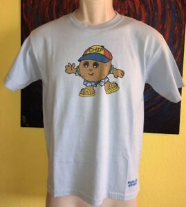 Youth Wally Amos Exclusive by Jams World Chip & Cookie Shirt Size Medium Blue