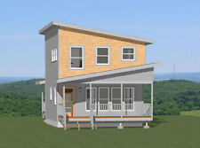 20x20 House -- 734 sq ft -- PDF FloorPlan -- Model 13