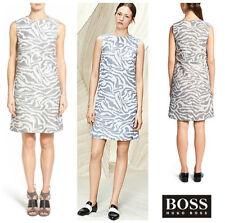 NEW $695 HUGO BOSS  DAKOLA  SLEEVELESS PRINT A- LINE SHIFT DRESS.SZ:10