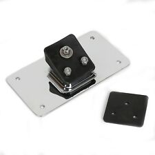 Laydown Chrome License Plate Mounting Bracket For Harley Sportster Dyna Softail