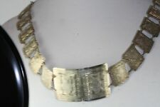 Vintage Colombia Hand Made 900 Sterling Silver Belt 28.25 Inch Signed Wr