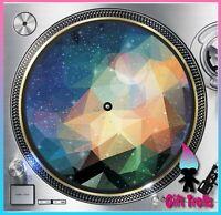 "Geometric Galaxy #7 Turntable Slipmat 12"" LP Record Player, DJ Space Orbit"