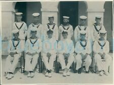 More details for 1947 officers hms ocean group photo 816 squadron  malta 8.25x6.2