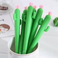 2x 0.5mm Cactus Gel Pens Cute Kids Pen School Student Office Stationery Set Gift