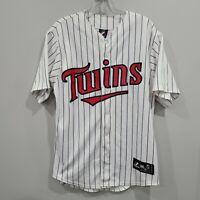 Majestic Minnesota Twins  Jim Thome 25 White Pinstripe Baseball Jersey Mens M