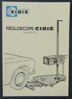 Notice 346 REGLOSCOPE CIBIE 1973 catalogue catalog dépliant