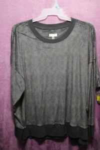 NEW♈Women's Solid super soft Sleep Top by Secret Treasures size 3XL~Charcoal