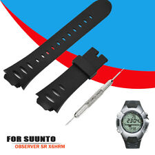 Fashion Rubber Sports Replacement Watch Band Strap For SUUNTO OBSERVER SR X6HRM
