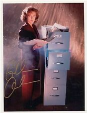 Gillian Anderson X-Files Autograph 8x10 Photo AT FILES   Emmy,  Golden Globe