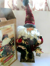 "GRANDEUR NOEL 16"" COLLECTORS EDITION FABRIC OLD WORLD SANTA"