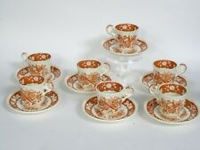 LOT of 7 COPELAND SPODE MADRID FLAT DEMITASSE CUP & SAUCER