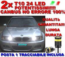 COPPIA LUCI POSIZIONE A 24 LED PER BMW SERIE 3 E46 T10 W5W CANBUS 100% NO ERRORE