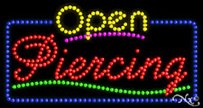 "New ""Open Piercing"" 32x17 Solid/Animated Led Sign W/Custom Options 25557"