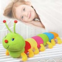 50CM Cute Inchworm Soft Caterpillar Toy Colored Developmental Child Baby Doll.