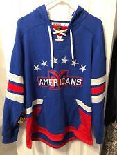 New York Americans CCM Vintage Style Hoodie Sweatshirt Size Large