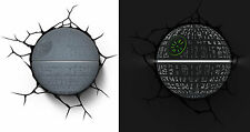 New STAR WARS ~ DEATH STAR ~ 3D FX Deco Wall LED Night Light Bedroom Nightlight