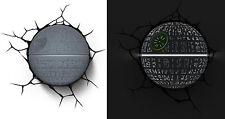 New STAR WARS ~ DEATH STAR ~ 3D FX Deco Wall LED Night Light Bedroom Nightlight