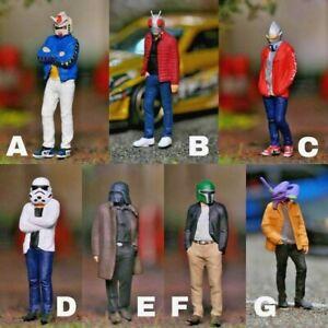 Miniature Figure Gundam, Ultraman, Starwars Scale 1/64 or 1/87 Hotwheel Diecast