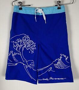 NWOT Old Navy Boy's Blue Bloods Swim Trunks Shorts Size XL (14-16) Regular