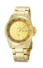 SEIKO SPORTS MEN AUTOMATIC GOLD TONE 100M WATCH SNZH22J1 MADE IN JAPAN