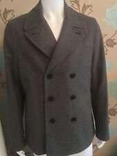 PAUL SMITH JEANS DOUBLE BREASTED WOOL-BLEND PEA COAT SIZE XL 40-42in CHEST