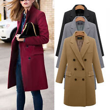 Winter Women Lady Lapel Long Trench Coat Parka Jacket Overcoat Outwear Plus Size