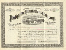 Philippine Plantation Company > 1906 stock certificate issued for 16,000 shares
