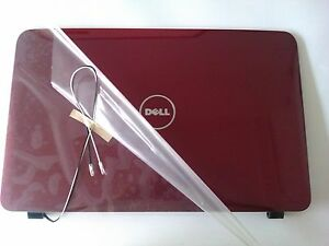 """New Dell Vostro 1015 15.6"""" LCD Screen Back Top Cover Lid / Rear Case Red FWC74"""