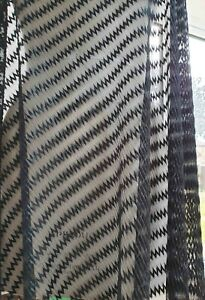 Lightweight black textured dress fabric with stripe pattern width 156 cm