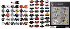 NFL MINI HELMETS, ERASERS, WHISTLES, FULL SETS 32 EACH 96 LICENSED COLLECTIBLES