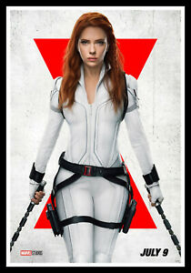 Black Widow White Movie Poster Print & Unframed Canvas Prints