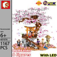 SEMBO Building Blocks Architecture Sakura Japanese Landscape Model MOC Toy Gifts