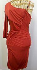 Baby Phat Orange One Shoulder Mini Dress Womans M Clubwear NEW